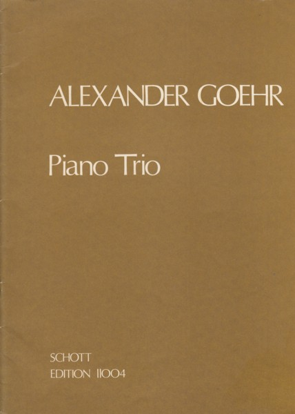 Image for Piano Trio, Op.20 - Set of Parts