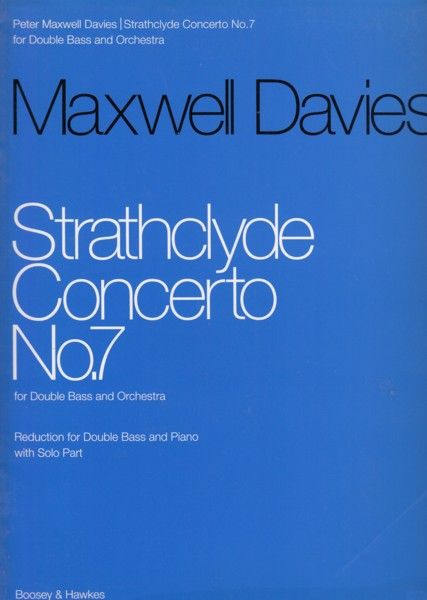 Image for Strathclyde Concerto No.7 - Double Bass & Piano