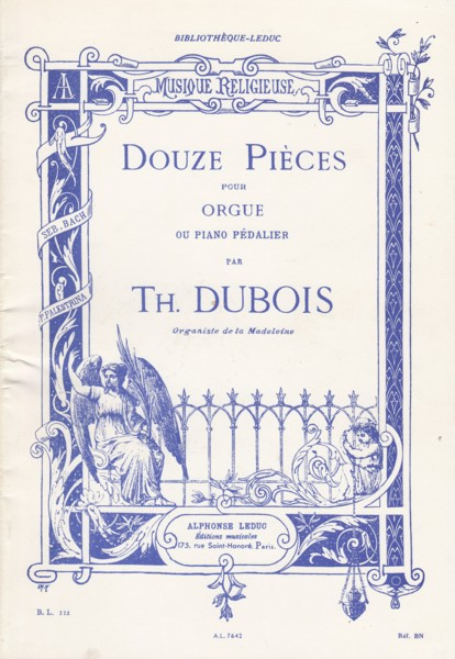 Image for Douze Pièces for Organ or Pedal Piano