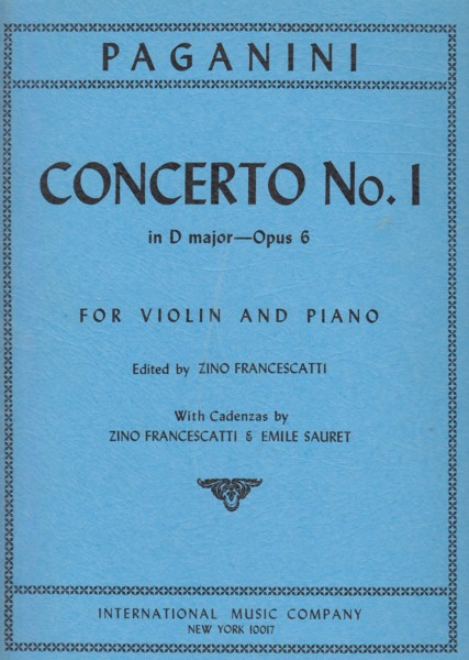 Image for Violin Concerto in D major, Op.6 - Violin & Piano