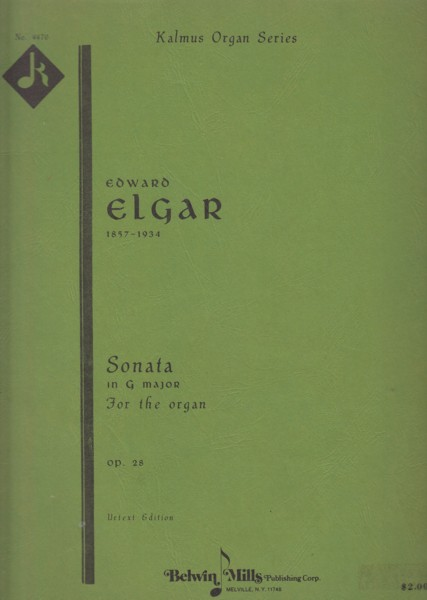 Image for Organ Sonata in G major, Op.28