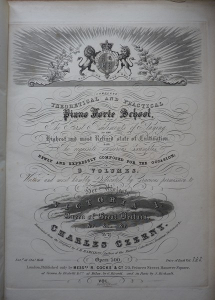 Image for Complete Theoretical and Practical Piano Forte School, from The First Rudiments of Playing, to the Highest and most Refined state of Cultivation with The requisite numerous Examples Newly and Expressly Composed for the Occasion in 3 Volumes.
