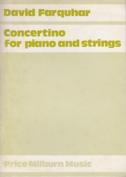 Image for Concertino for Piano & Strings - Study Score