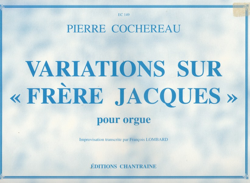 "Image for Variations on ""Frere Jacques"" for Organ"