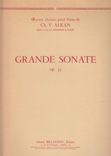 Image for Grande Sonate, Op.33 for Piano