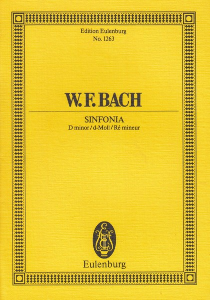 Image for Sinfonia in d minor - Study Score