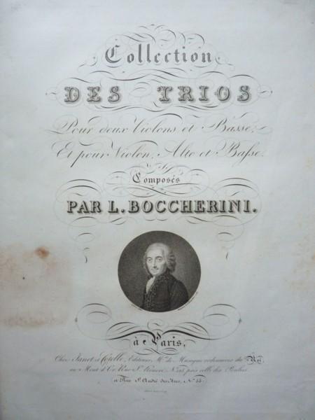 Collection Des Trios pour Deux Violons et Basse, et pour Violin, Alto et Basse