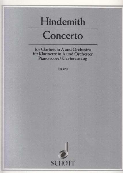 Image for Concerto for Clarinet in A and Orchestra - Clarinet & Piano