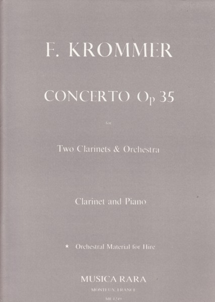 Image for Concerto for Two Clarinets & Orchestra - 2 Clarinets & Piano