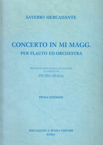 Image for Concerto in E major for Flute and Orchestra - Flute & Piano