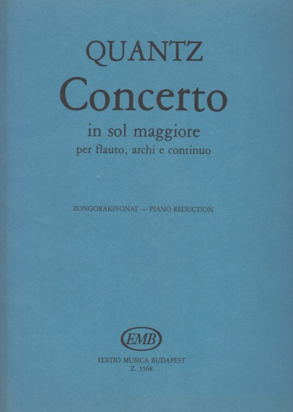 Image for Concerto in G major for Flute, Strings and Continuo - Flute & Piano