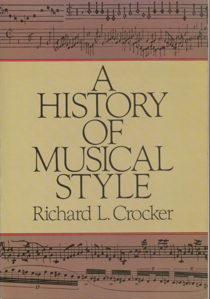 Image for A History of Musical Style