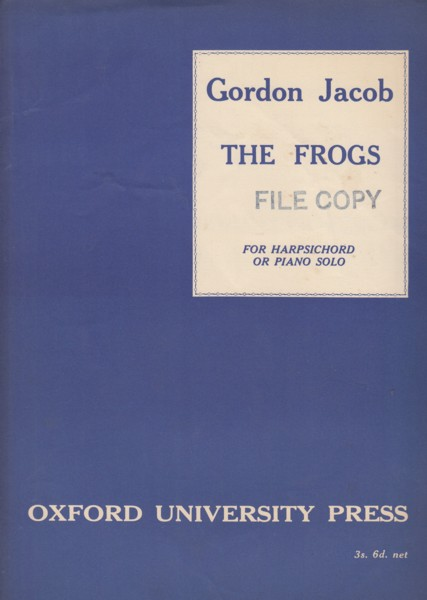Image for The Frogs for Harpsichord or Piano solo