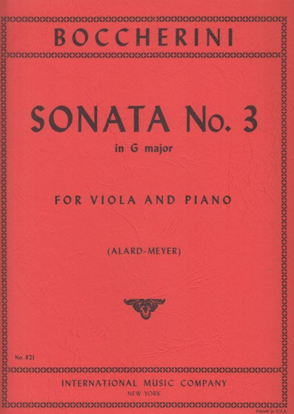 Image for Sonata No.3 in G major for Viola and Piano