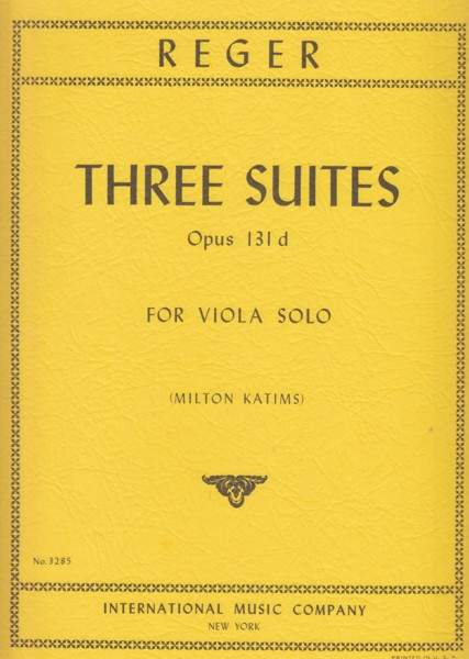 Image for Three Suites Op.131d for Viola Solo