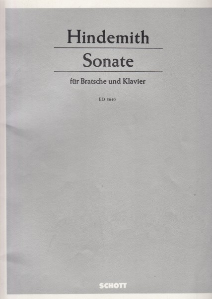 Image for Sonata for Viola and Piano (1939)
