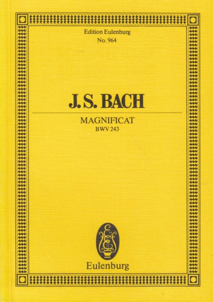 Image for Magnificat in D major, BWV 243 - Study Score