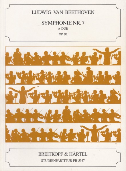 Symphony No 7 in A major, Op 92 - Study Score