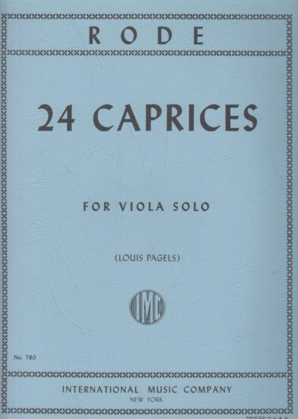 Image for 24 Caprices for Viola Solo