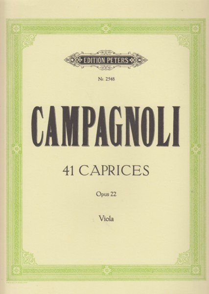 Image for 41 Caprices, Op.22 for Solo Viola