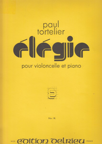 Image for Élégie for Cello & Piano