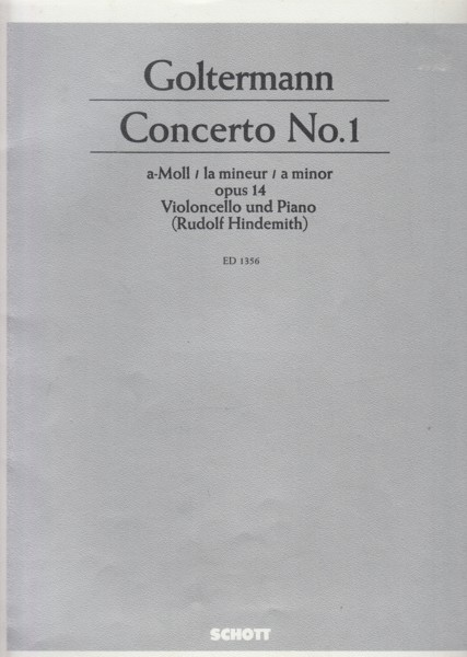 Image for Cello Concerto No.1 in a minor, Op.14 - Cello & Piano