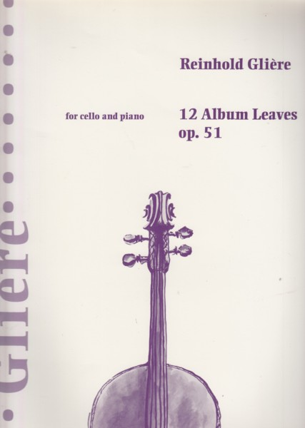Image for 12 Album Leaves, Op.51 - Cello & Piano