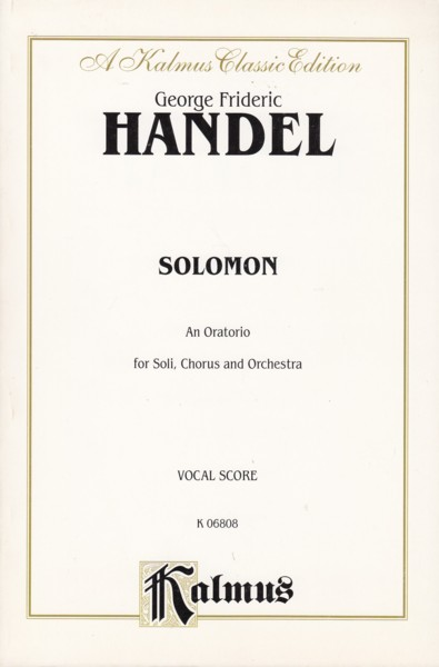 Image for Solomon - Vocal Score