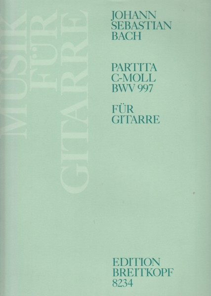Image for Partita in c minor, BWV 997 - Guitar