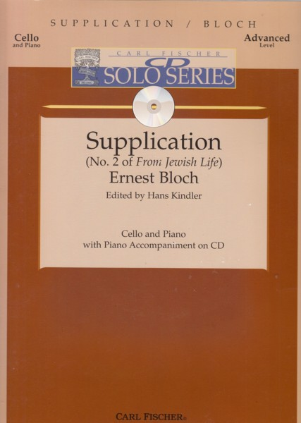 "Image for Supplication (No.2 of ""From Jewish Life"") - Cello & Piano with CD"