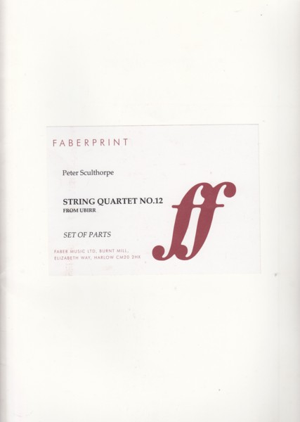 Image for String Quartet No.12 (From Ubirr) for String Quartet and Didjeridu - Set of Parts