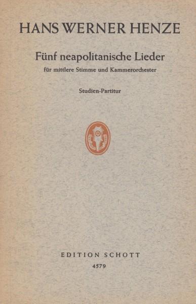 Five Neapolitan Songs - Study Score