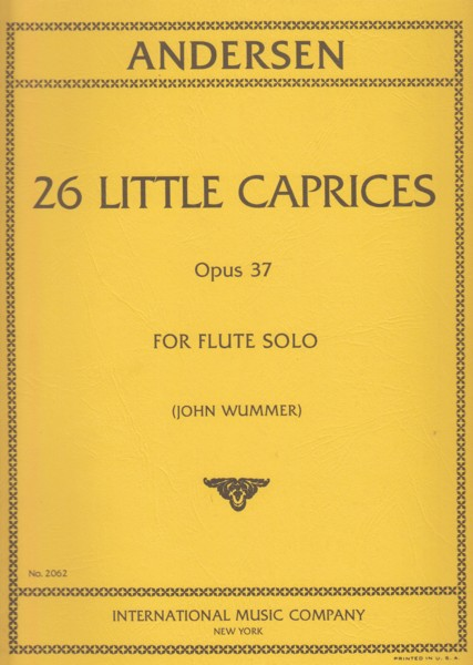 Image for 26 Little Caprices, Op.37 for Flute Solo