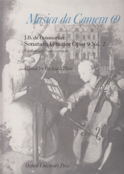 Image for Sonata in G major, Op.9 No.2 for Flute and Basso continuo
