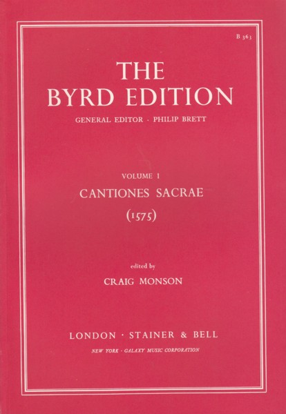 Image for Cantiones Sacrae (1575) - The Byrd Edition Volume 1