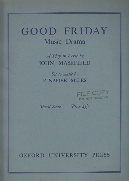 Good Friday, Music Drama in Two Acts - Vocal Score