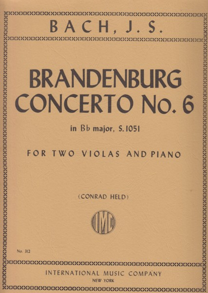Image for Brandenburg Concerto No.6 - Two Violas & Piano