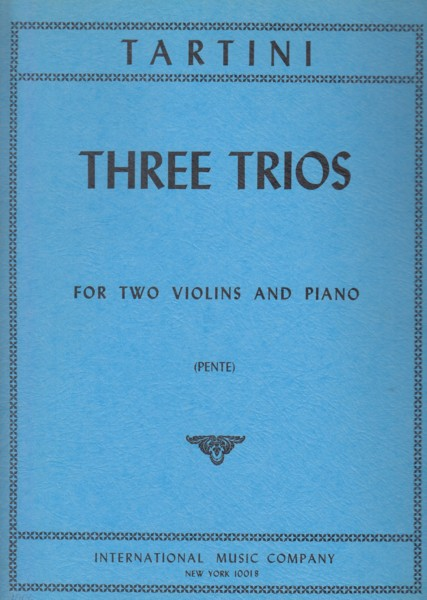 Image for Three Trios for Two Violins and Piano