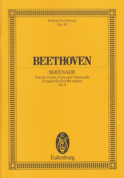 Image for Serenade in D major for String Trio, Op.8 - Study Score