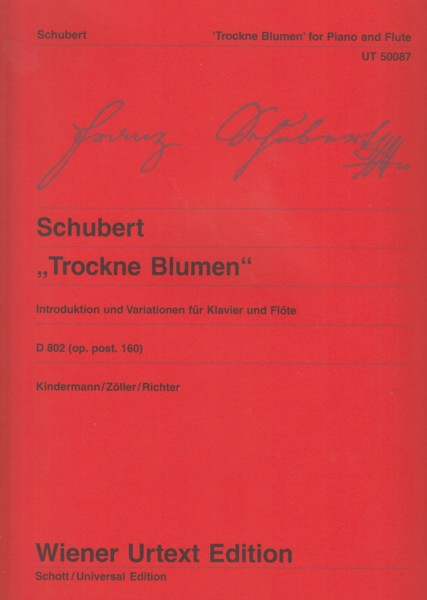 "Image for ""Trockne Blumen"" Introduction and Variations for Flute and Piano, D802"