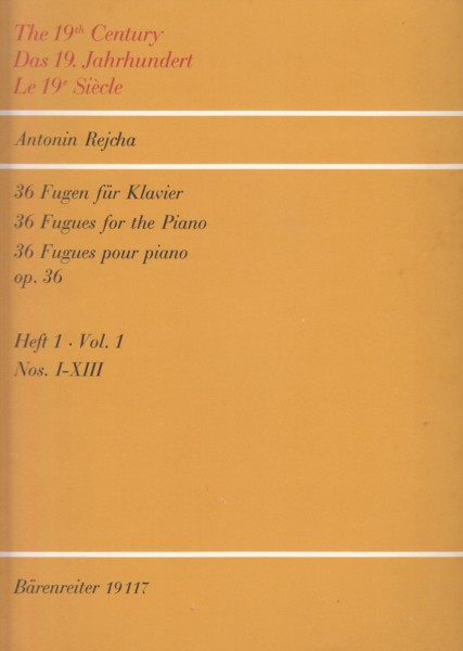 Image for 36 Fugues for Piano, Op.36 Nos. I - XIII