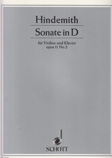Image for Sonata for Violin and Piano in D, Op.11 No.2