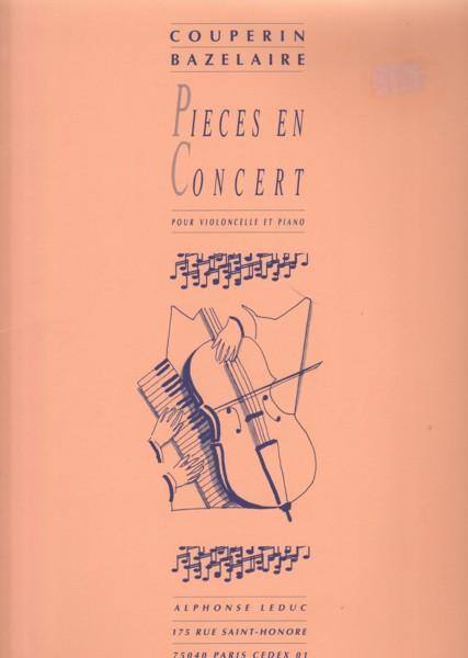 Image for Pièces en Concert - Cello & Piano