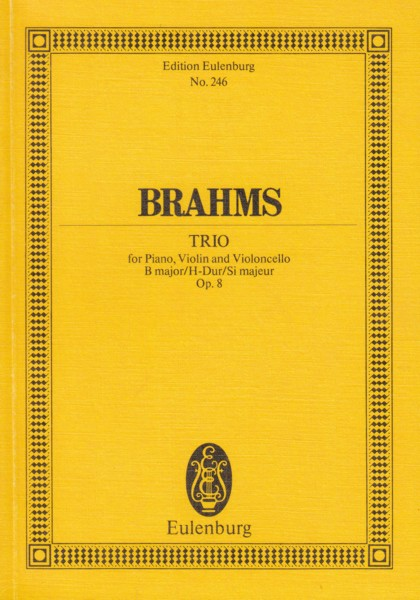 Image for Piano Trio in B major, Op.8 - Study Score
