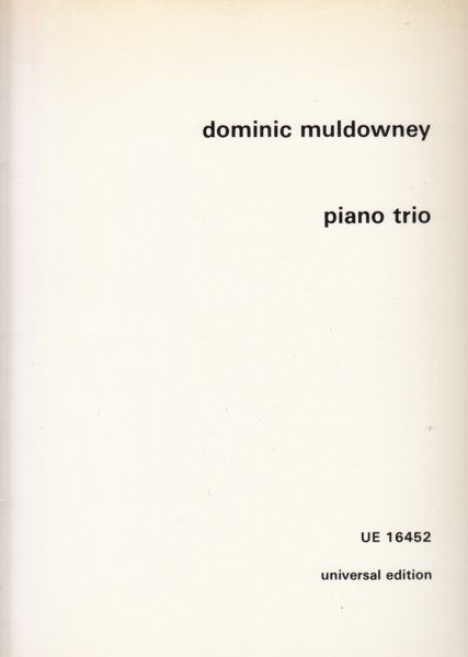 Image for Piano Trio - Score & Parts