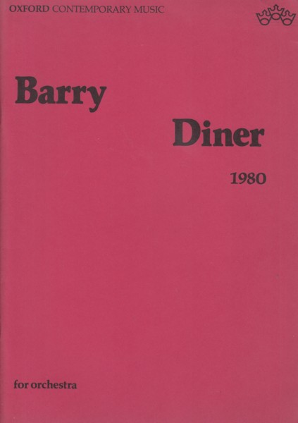 Image for Diner (1980) for Orchestra - Full Score