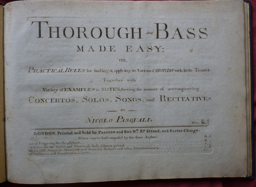 Image for Thorough Bass Made Easy or Practical Rules for finding & applying it's Various Chords with little Trouble: Together with Variety of Examples in Notes, shewing the manner of accompanying Concertos, Solos, Songs, and Recitatives.
