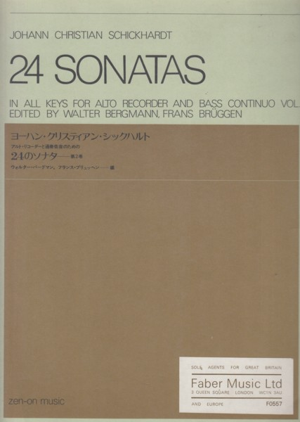 Image for 24 Sonatas in all Keys for Alto Recorder and Bass Continuo, Volume 2