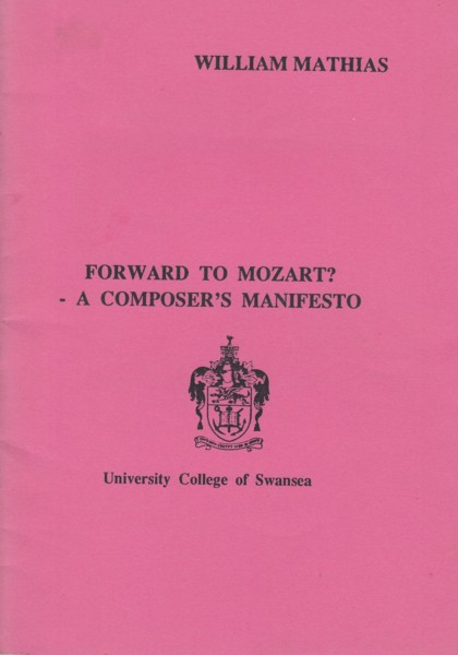 Image for Forward to Mozart? - A Composer's Manifesto