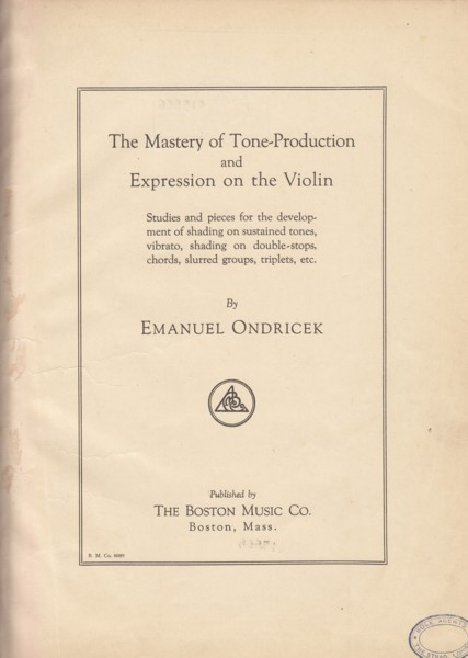 Image for The Mastery of Tone Production and Expression on the Violin.